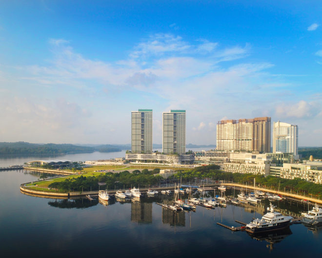 Bird's eye view of the Southern Marina Residences; nature and lush greenery offer respite in the property