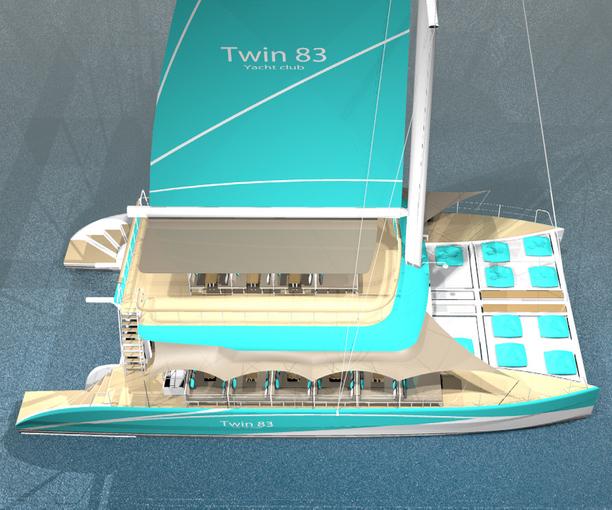 Twin 83 sailing catamaran