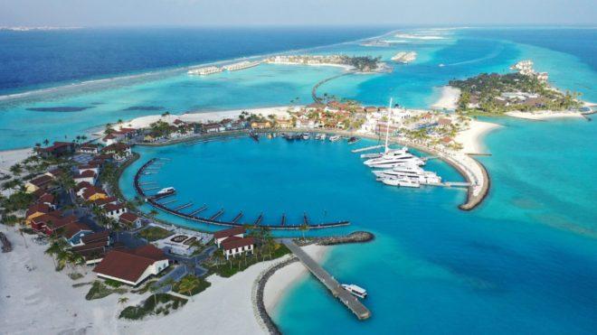 The Crossroads Maldives marina is already welcoming superyachts