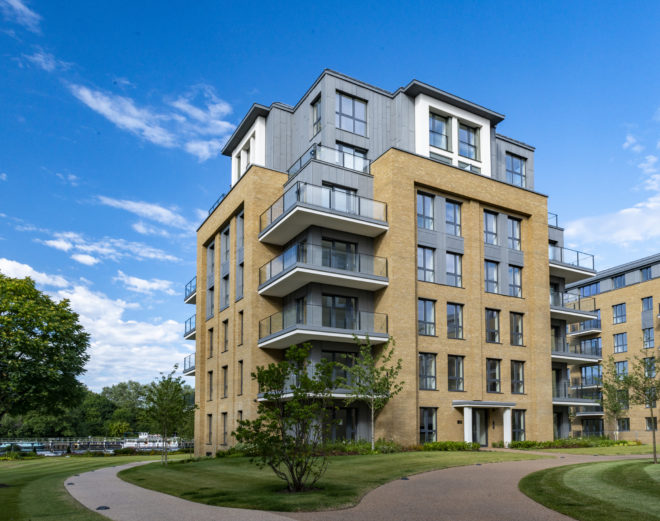 Teddington Riverside development is where residents can enjoy bicycle rides around its lush surroundings