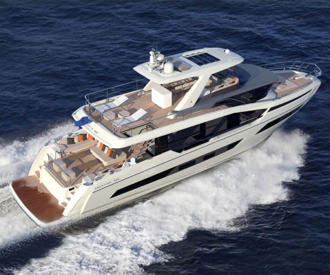 Prestige X70 motor yacht, Garroni Design