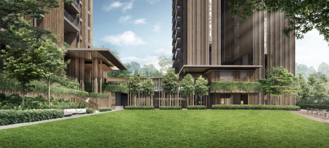 Green lawn at The Avenir by Guocoland and Hong Leong