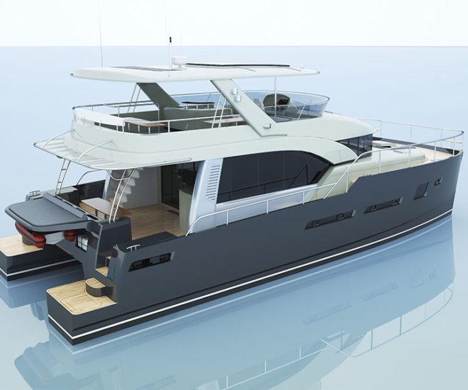 Bakri Cono H70 power catamaran