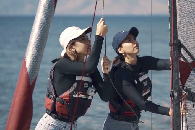 Lexi Mendiola and Janina Manipol at the Europa Sailing School in Subic Bay