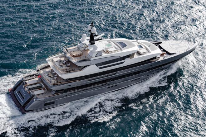 Sanlorenzo's stunning flagship 64Steel Attila; Photo: Guillaume Plisson
