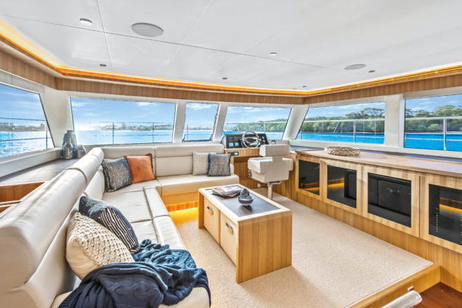 The ILIAD 50 salon offers owners and guests great vistas