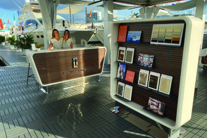 The CL Yachts display at the 2019 Fort Lauderdale International Boat Show