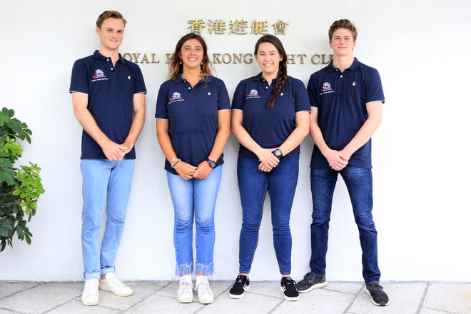 The four pictured Youth America's Cup sailors are also joined by Aymeric Gillard