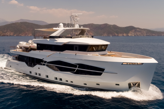 The 32XP is currently Numarine's flagship yacht; Photo: Jeff Brown