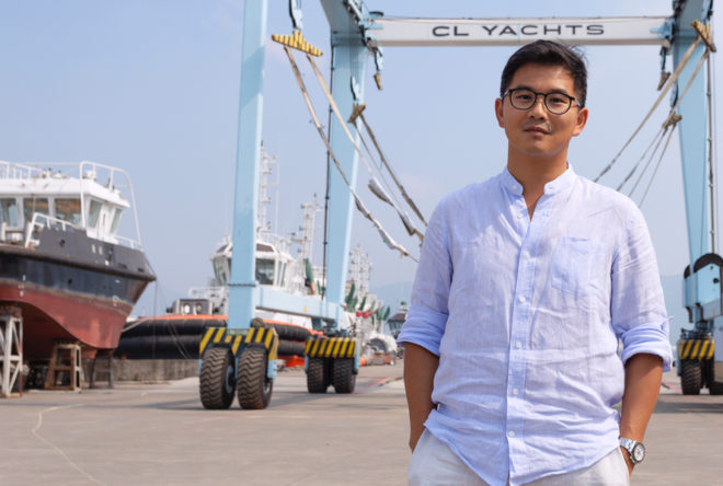 Hans Lo, Deputy Director of CL Yachts, in Doumen, where Cheoy Lee builds workboats