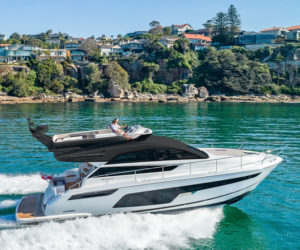 The Squadron 50 is profiled in the Fairline Marina's first livestream