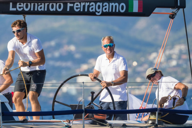 Ferragamo frequently competes in ClubSwan 50 events on Cuordileone