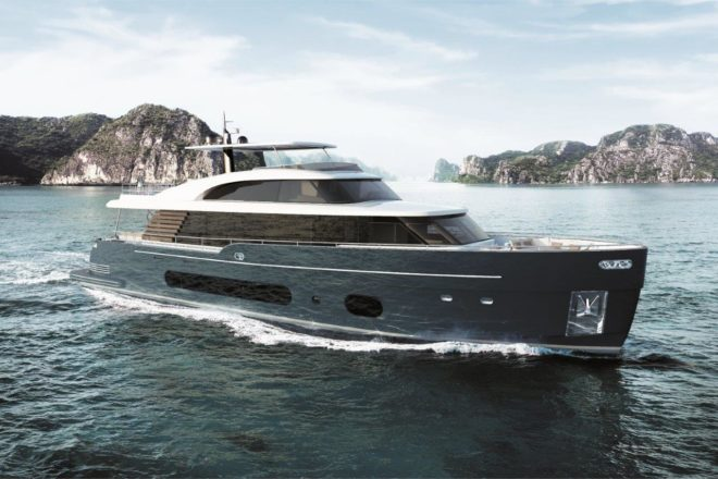 At 83ft in length, the 25 Metri is the flagship of Azimut's Magellano range