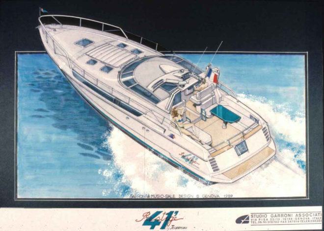 The Prestige 41' designed by Garroni launched the brand in 1989