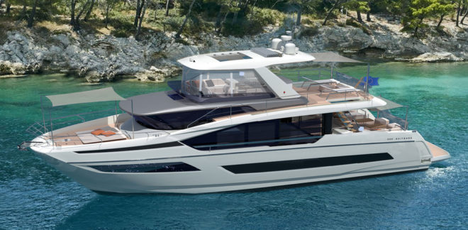 Scheduled to debut at Cannes this September, the high-volume Prestige X70 is a revolutionary design that doesn't include traditional side decks