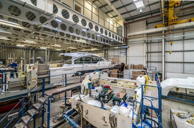 Construction within Fairline's Oundle facility