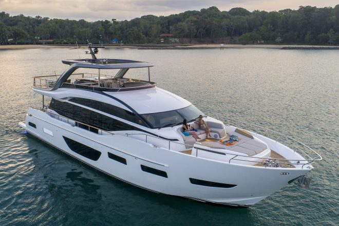 Boat Lagoon Yachting's boats for sale include the Y85, a model that premiered in 2019