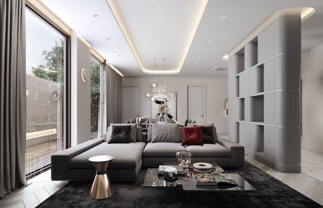 K.R. Decorate living room