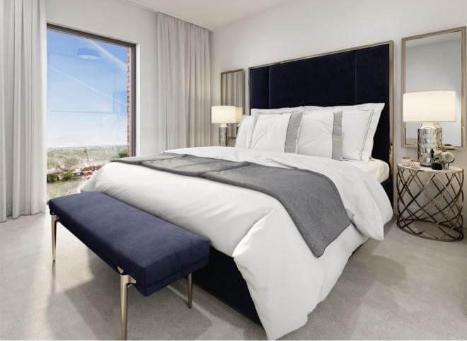 Bedroom rendering, Eastman Village.
