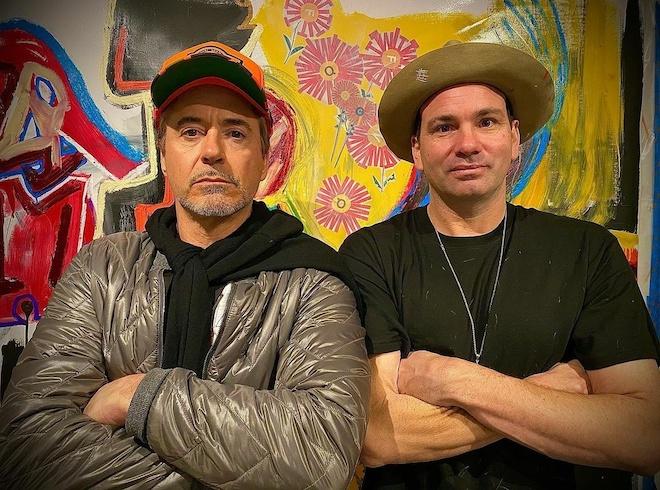 Danny Minnick with Robert Downey Jr.