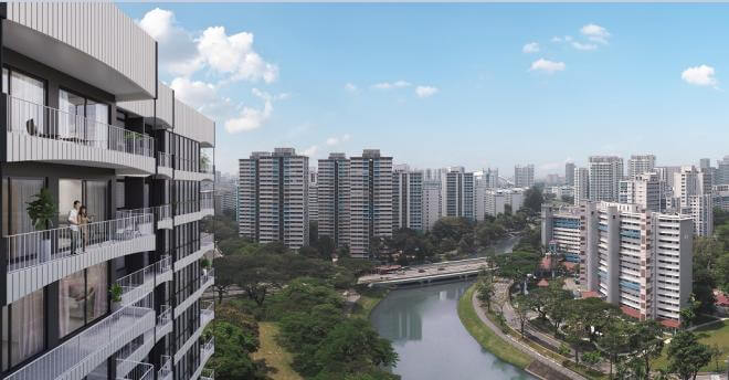 Jui Residences will offer views of the Kallang River.