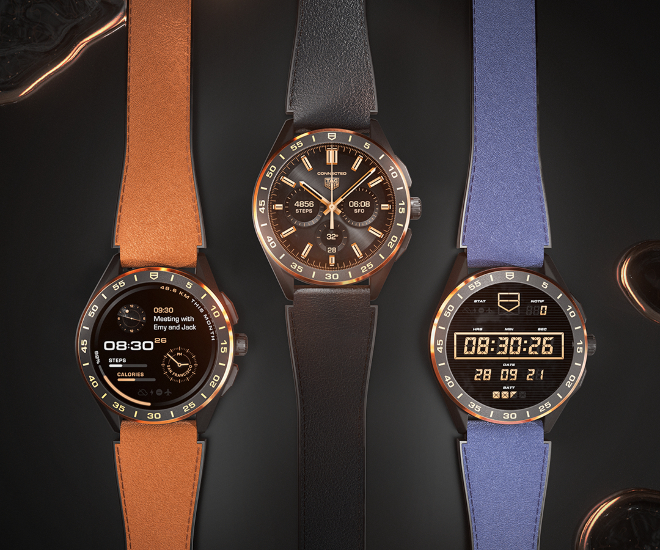 TAG-Heuer Connected Leather Straps