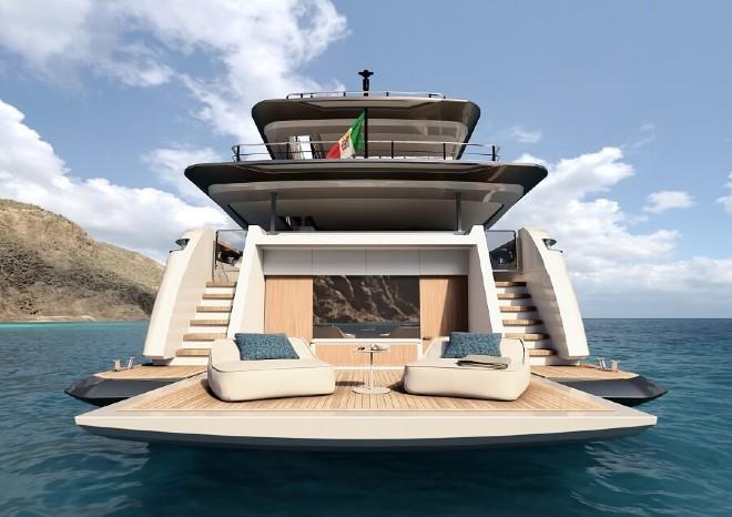 custom line 140 swim deck